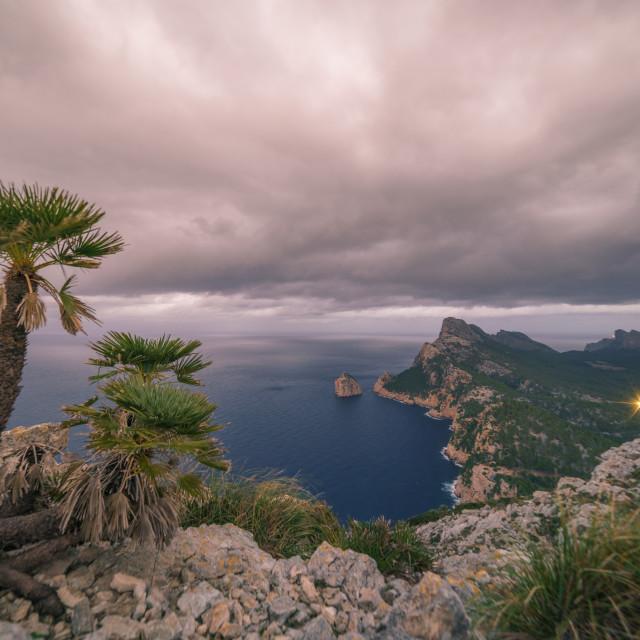 """""""The wild north coast of Mallorca"""" stock image"""