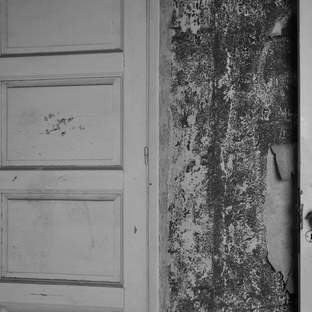 """doll hand haunted house door"" stock image"