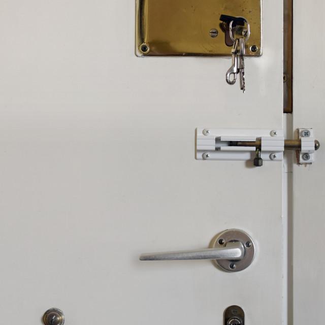 """""""locked door"""" stock image"""