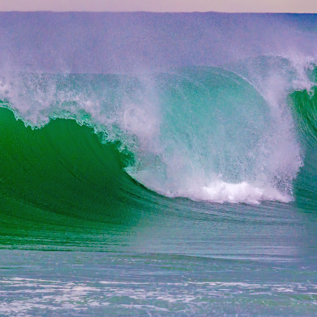 """Beautiful waves on the Spanish mediterranean ocean"" stock image"
