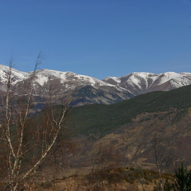 """""""Beautiful Spanish landscape from mountain Montseny"""" stock image"""