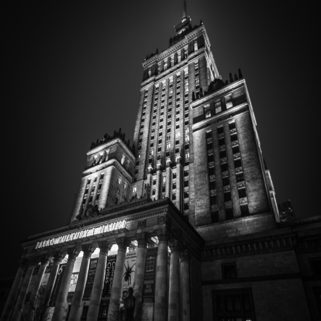 """The Palace of Culture, Warsaw."" stock image"