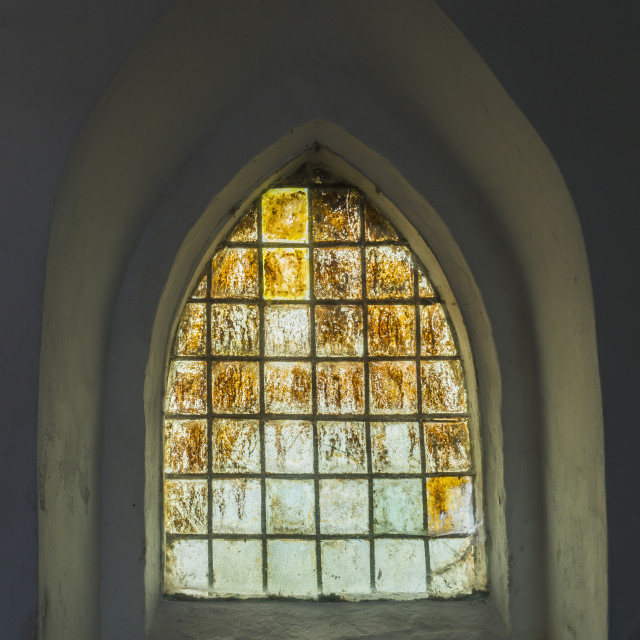 """Window in Church Garnwerd"" stock image"