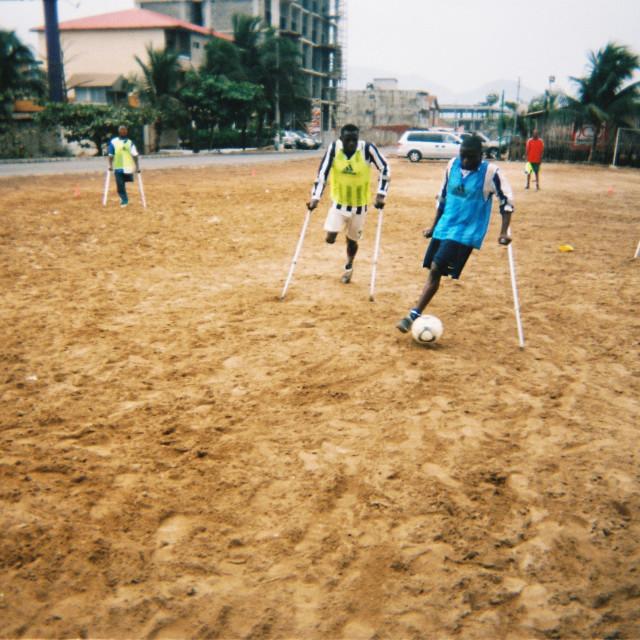 """Amputee football"" stock image"