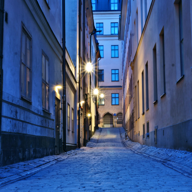 """Stockholm Alleyway"" stock image"