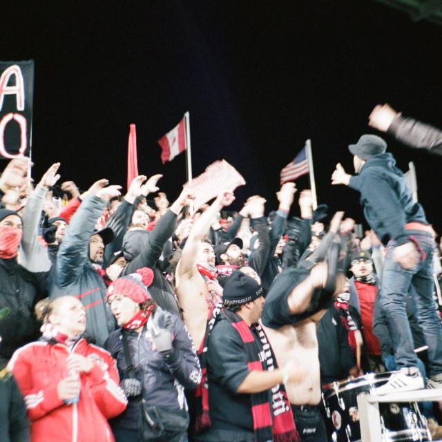 """Toronto FC fans"" stock image"