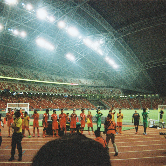 """""""Football in Singapore"""" stock image"""