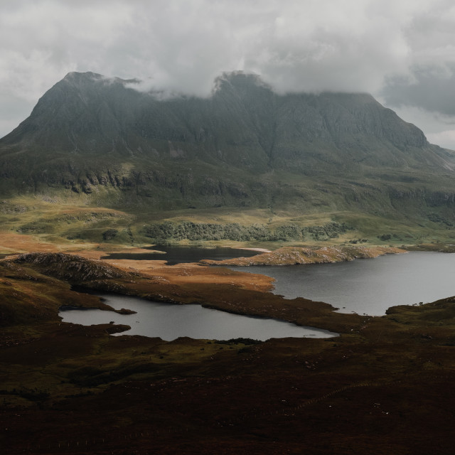 """""""Cul Mor and the Northwest Highlands of Scotland"""" stock image"""
