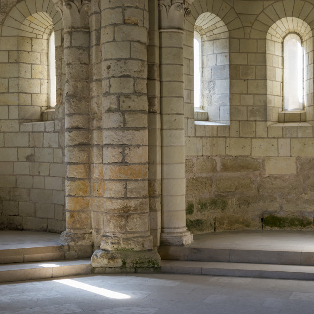 """""""Chapel of Abbey with Windows"""" stock image"""