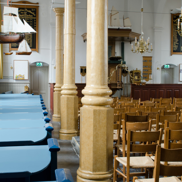 """""""Interior of the curch of Marken"""" stock image"""