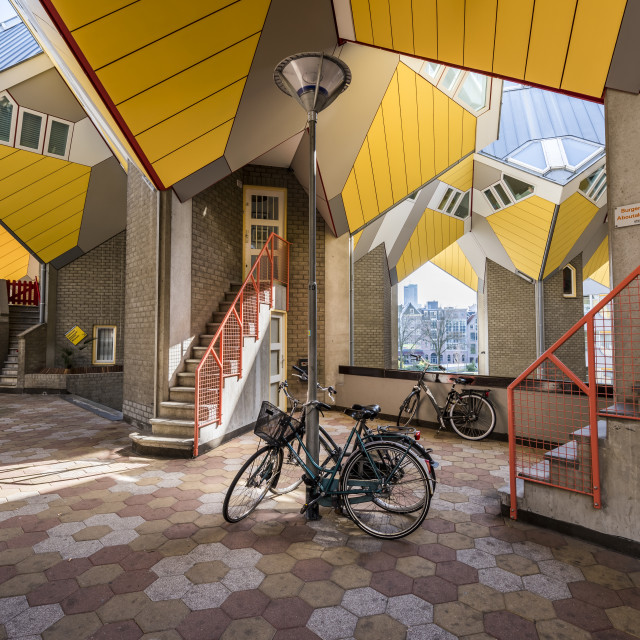 """Cube Houses Rotterdam Bike"" stock image"