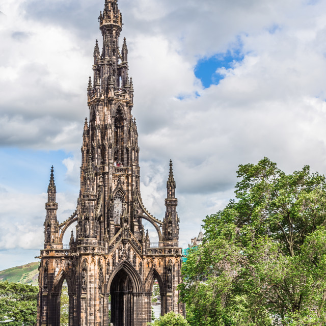 """Scott Memorial, Edinburgh, Scotland."" stock image"