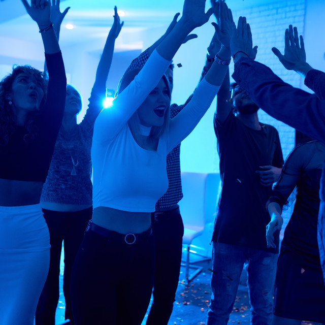 """""""Young People Dancing at House Party"""" stock image"""