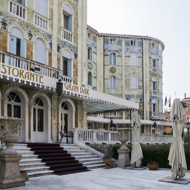 """""""Hotel Palace Hungaria Ausonia with its highly decorative exterior in the..."""" stock image"""