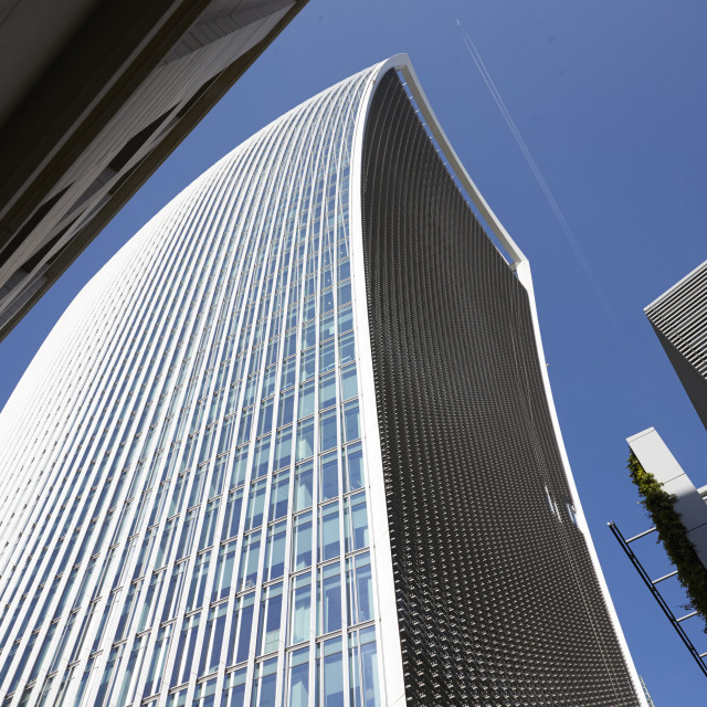 """""""LONDON - MAY, 2017: Low angle view of The Walkie Talkie building, 20..."""" stock image"""