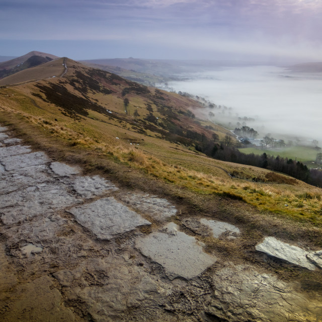 """The Great Ridge and the Mist"" stock image"