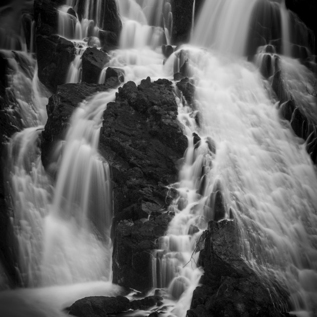 """Swallow Falls, Detail Shot"" stock image"