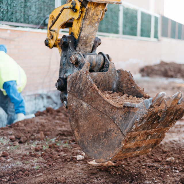"""""""Worker on construction site"""" stock image"""