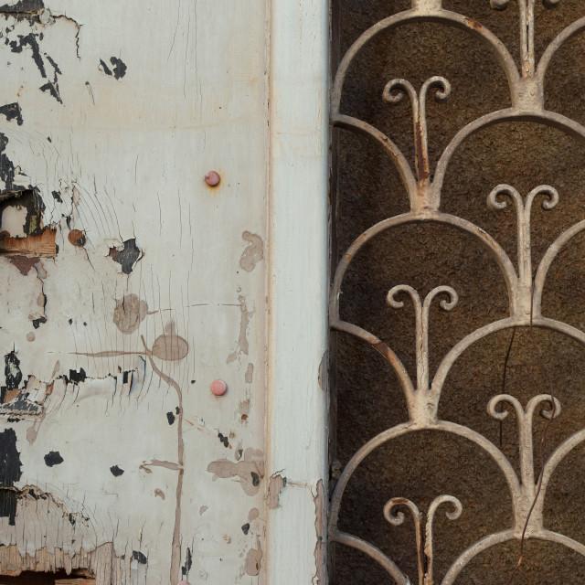 """""""old door rusty pattern"""" stock image"""