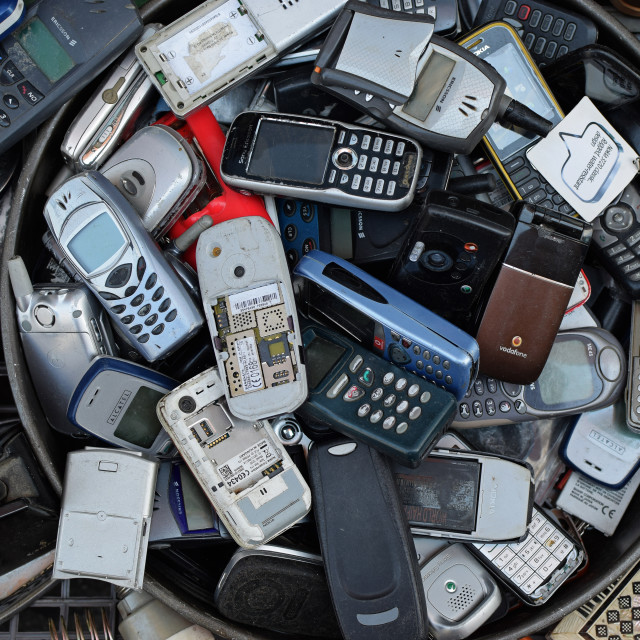 """old mobile cell phones"" stock image"