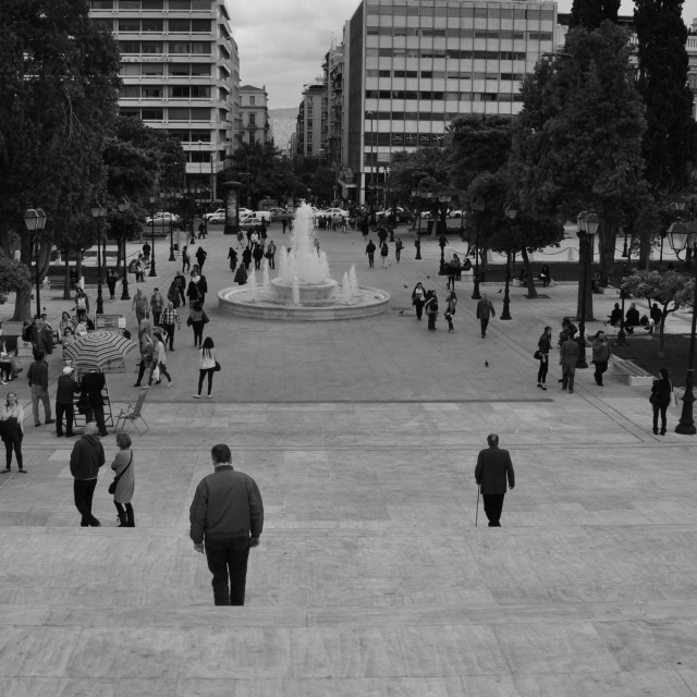 """people public square athens"" stock image"