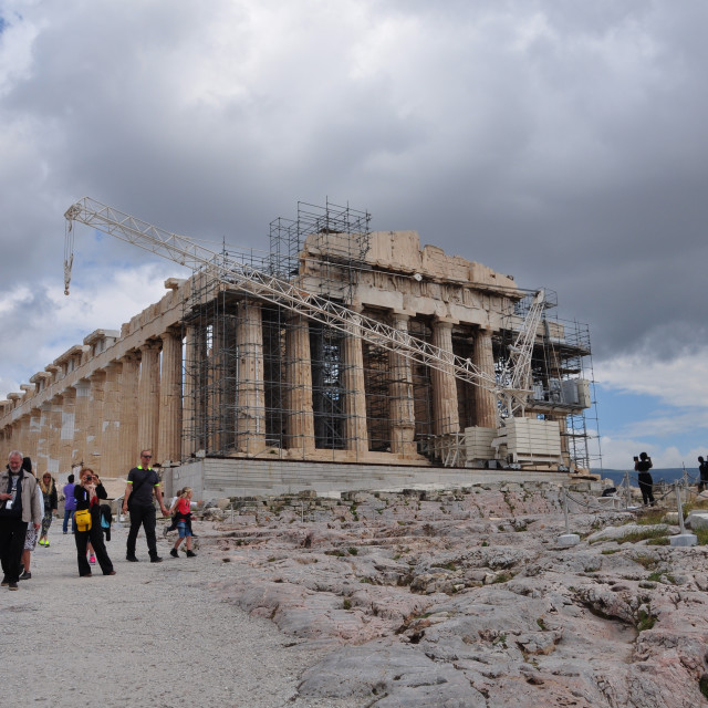 """people visiting the temple of parthenon"" stock image"