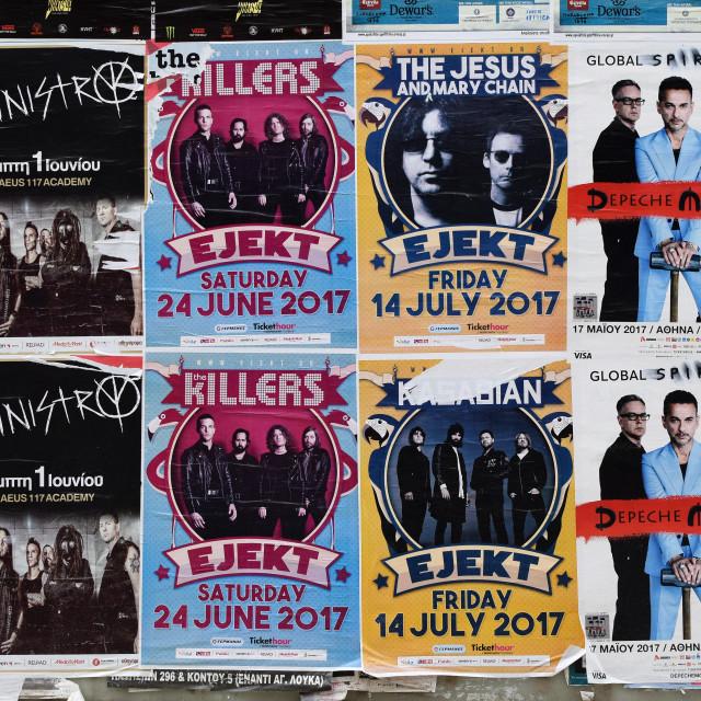 """concert posters pop rock music"" stock image"