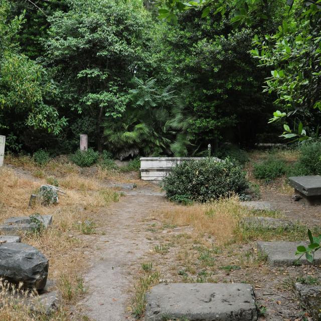 """""""roman ruins garden"""" stock image"""
