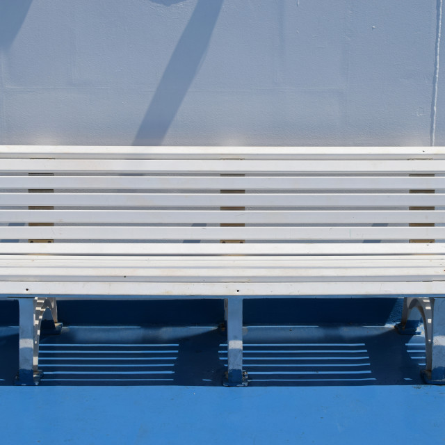 """white bench summer"" stock image"