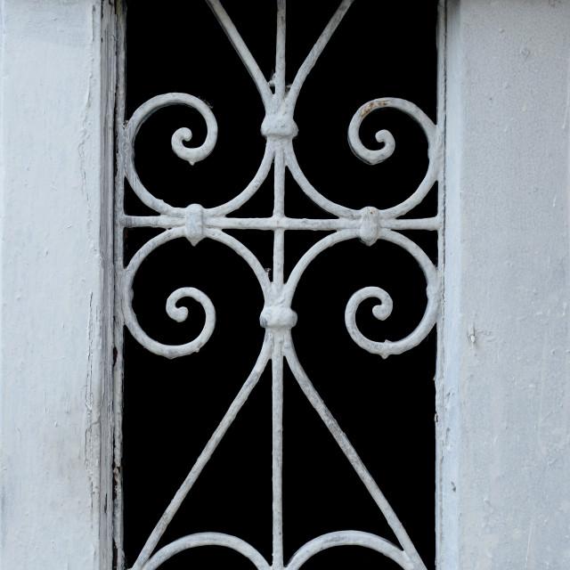 """""""wooden frame metal pattern"""" stock image"""