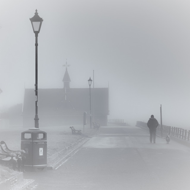 """Lytham in the mist"" stock image"