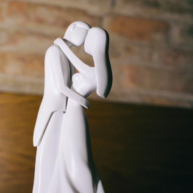 """""""Wedding Couple Figurines"""" stock image"""