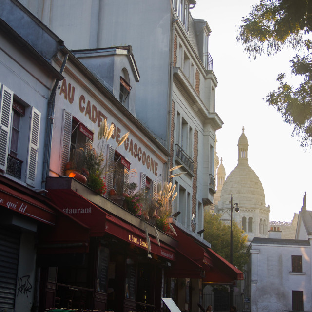 """A street in Montmartre"" stock image"