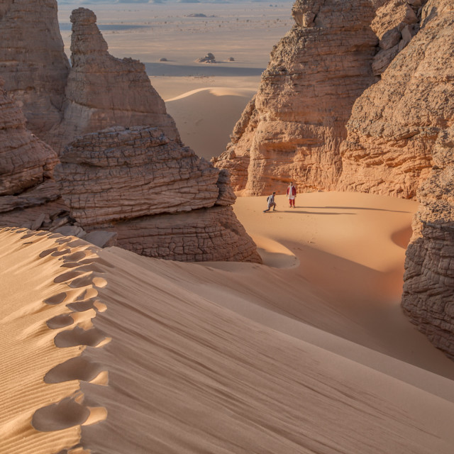 """""""Acacus Libya Sahara"""" stock image"""