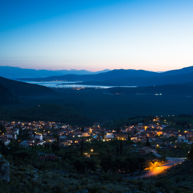 """Evening view from Delphi"" stock image"