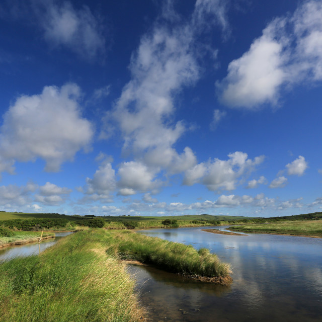 """River at Cuckmere Haven, SAussex"" stock image"