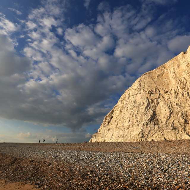 """Cliffs at Cuckmere Haven, Sussex"" stock image"