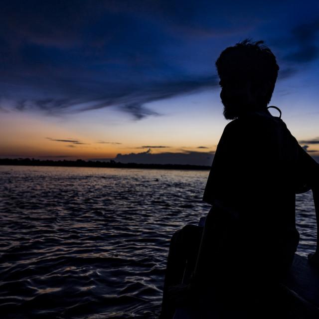 """""""Amazonian sunset near Iquitos, Loreto, Peru, January 2018"""" stock image"""