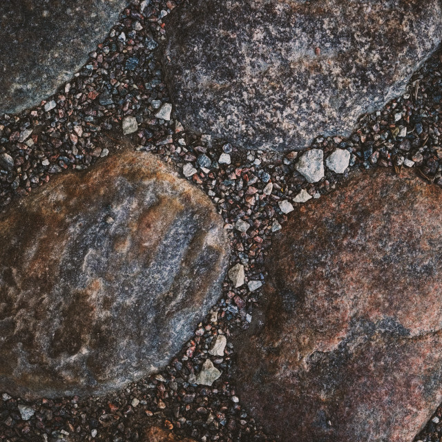 """Natural stone and pebble background"" stock image"