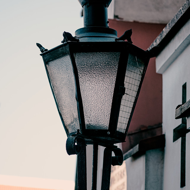 """Street light in the Tallinn"" stock image"
