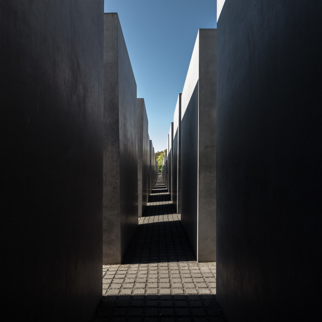 """Memorial to the Murdered Jews of Europe - Inner View"" stock image"