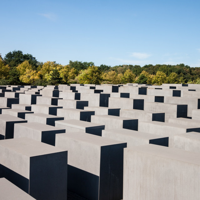 """Memorial to the Murdered Jews of Europe - Top View"" stock image"