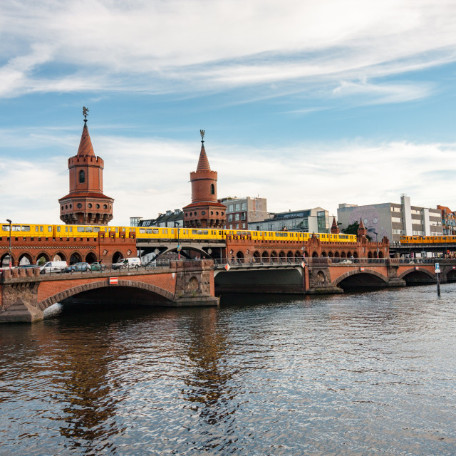 """Bridge over river Spree"" stock image"