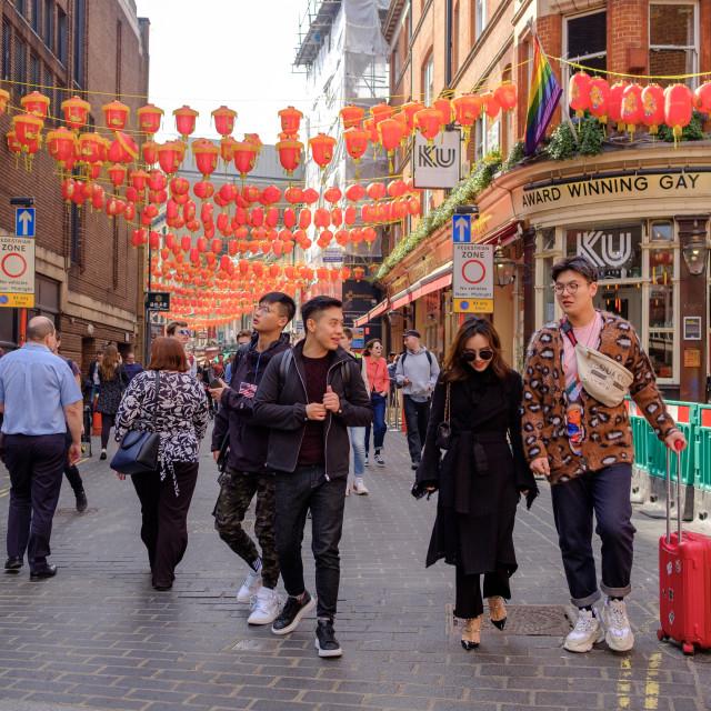 """Chinatown London"" stock image"