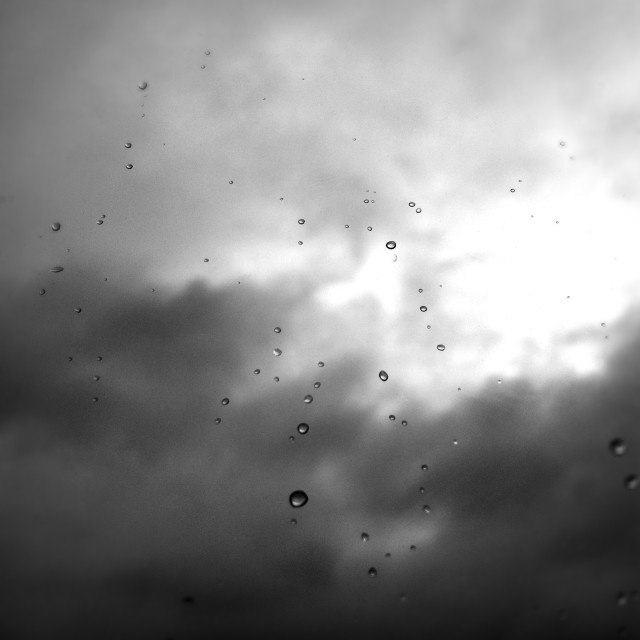 """""""Raindrops against a stormy sky"""" stock image"""