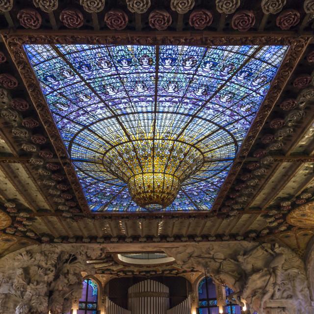 """The Palau de la Música Catalana, a Nouveau building."" stock image"
