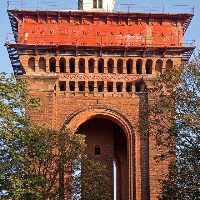 """Victorian Water Tower in the UK"" stock image"