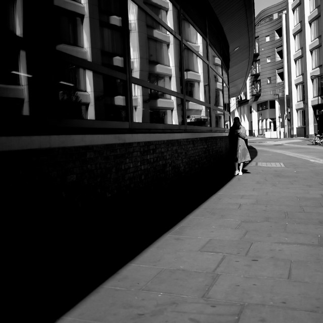 """Clerkenwell morning shadows, London 2017"" stock image"