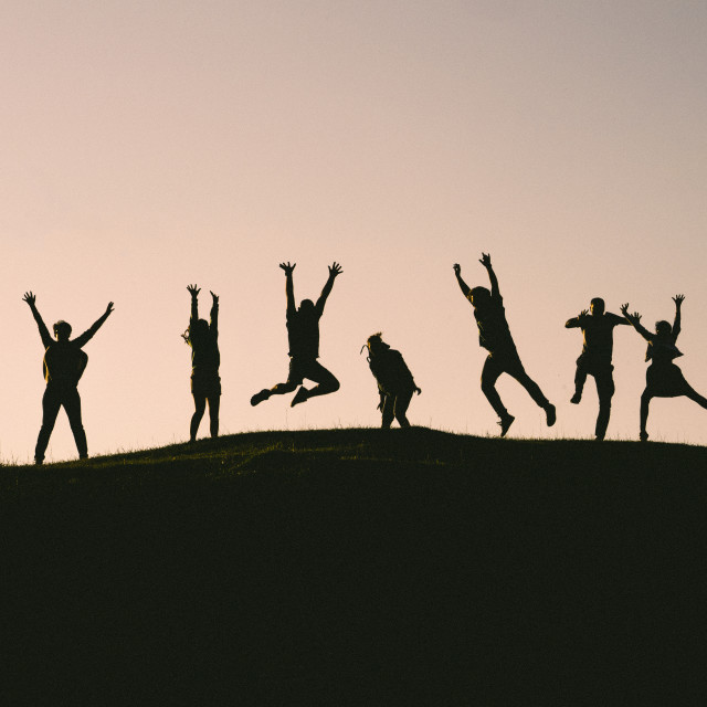 """Jump for Joy"" stock image"