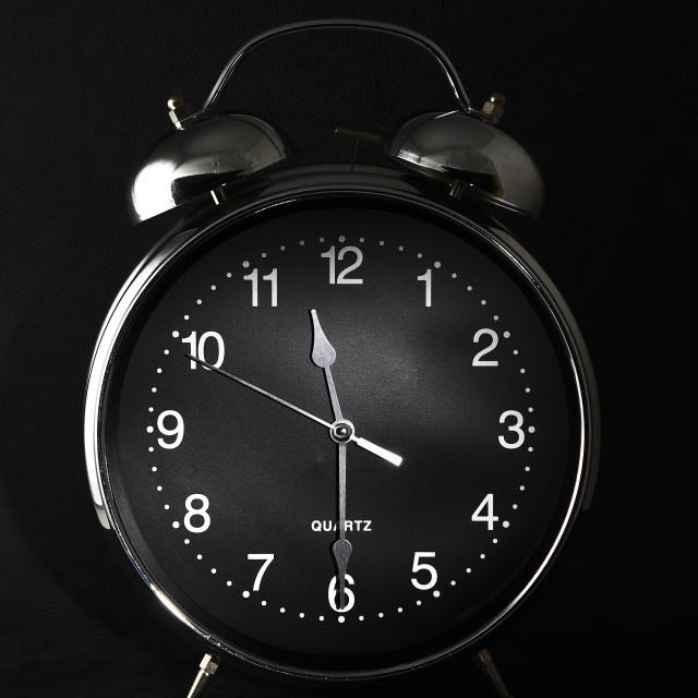 """Old retro alarm clock"" stock image"